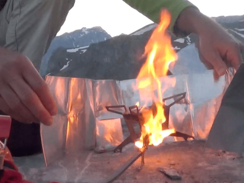 Flamme de l'étape de préchauffage en configuration essence