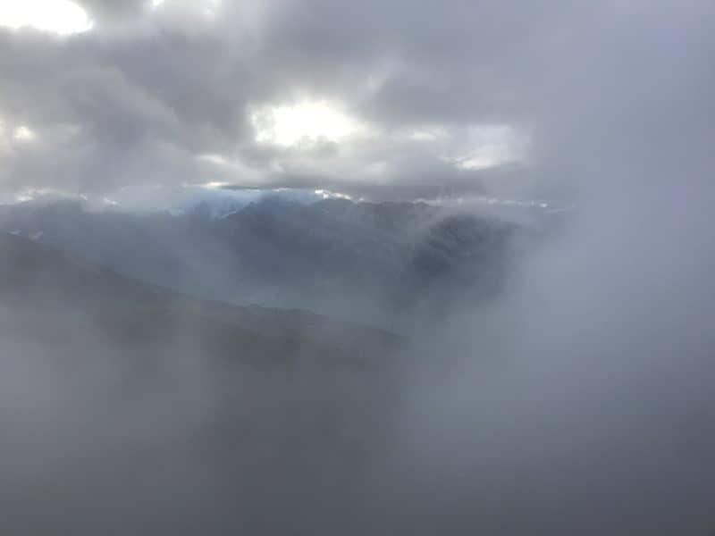 Brouillard sur les crêtes de Thyon