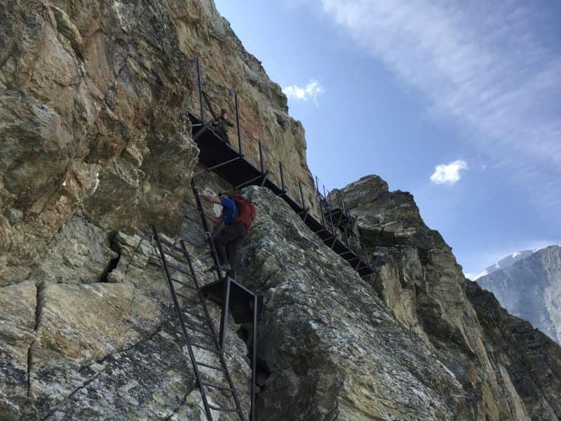 Passage des échelles au Pas de Chèvres