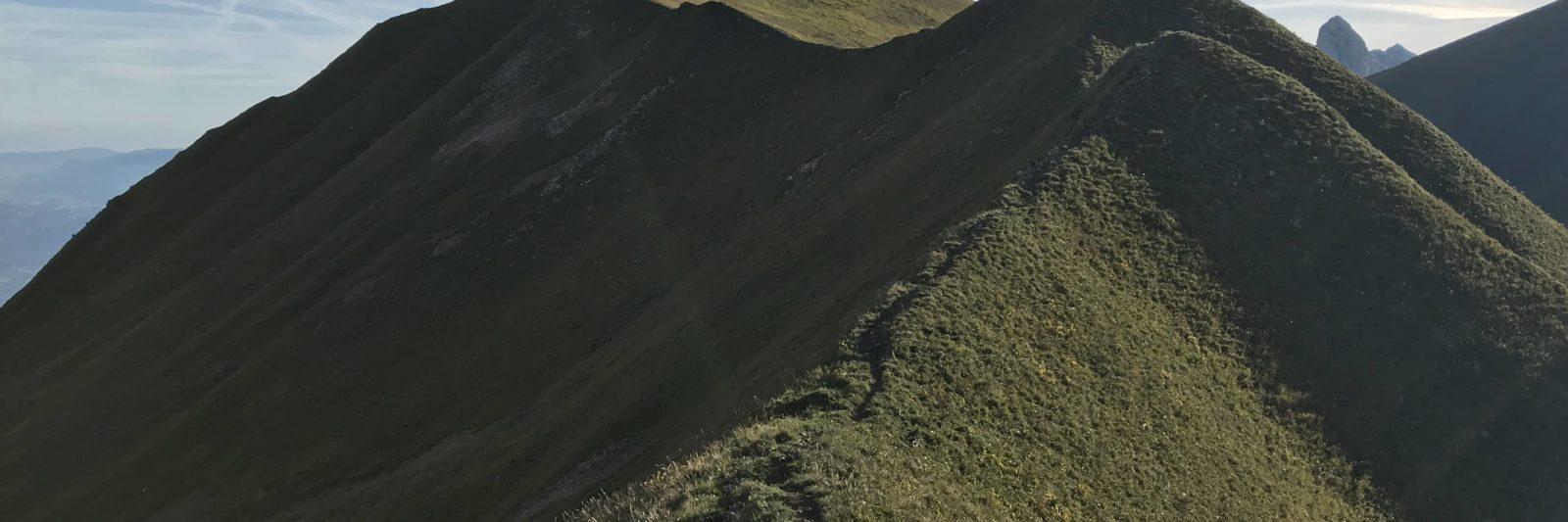 Les crêtes de Charousse: le Léman vu d'en haut