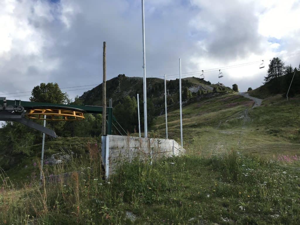 Remontées mécanique au-dessus de Thyon 2000
