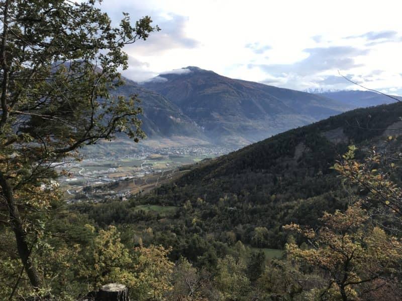 Vue sur la plaine depuis le Sentier des Contrées