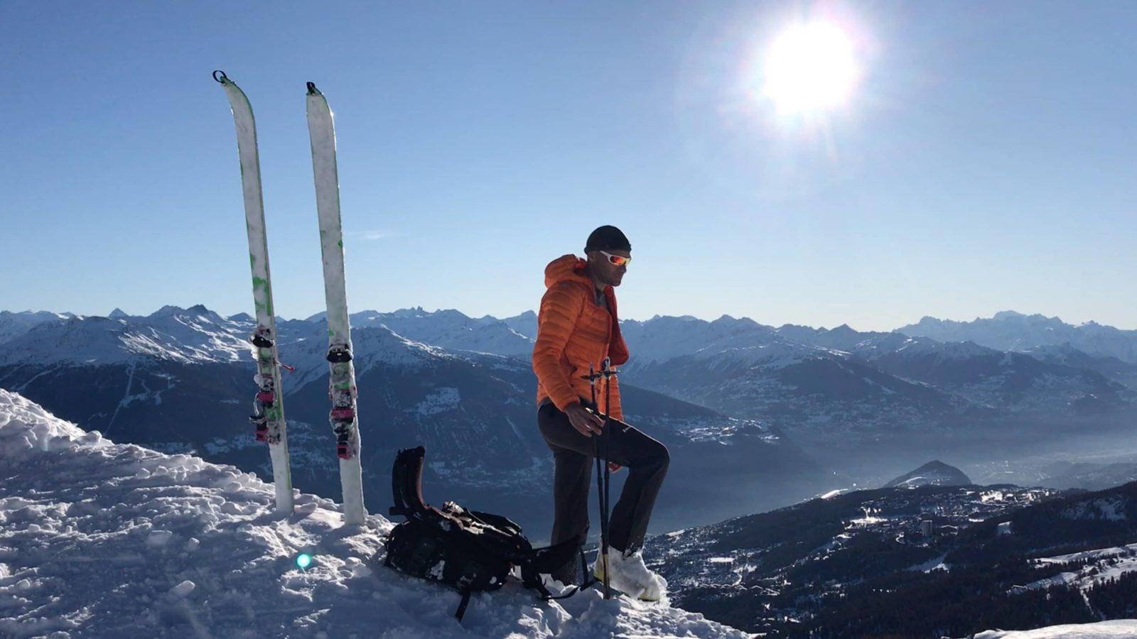 Initiation à la rando à ski :  parc de Crans-Montana 8