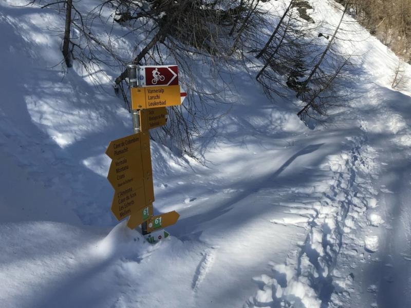 Le choix de la neige fraîche pour ce test des ancrages