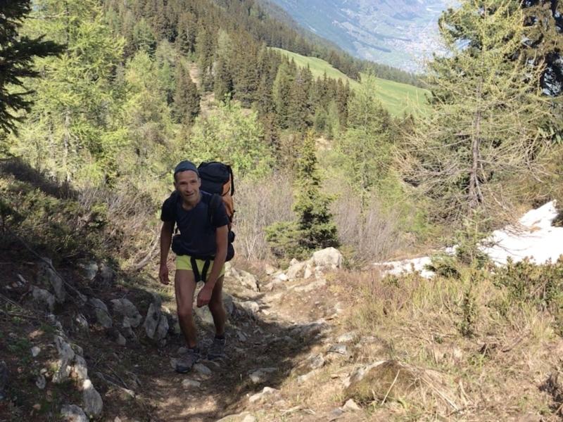 Chemin de montagne dans la région de l'Arpille