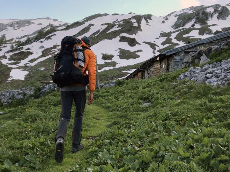Arrivée au gîte de l'alpage de Dorbon
