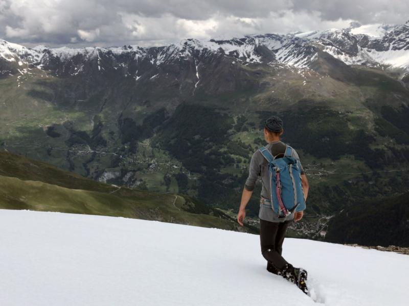 Vue sur la Val d'Hérens et les villages qui le composent