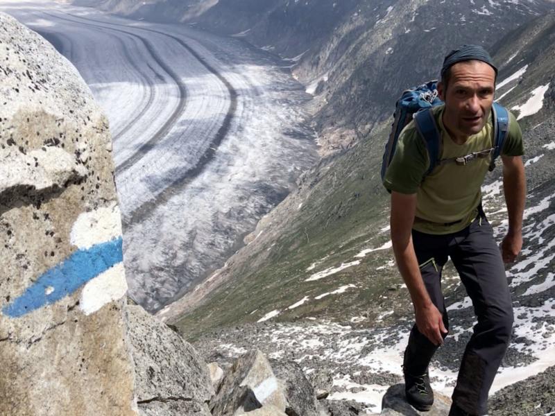 Le sentier d'altitude de l'UNESCO est bien balisé