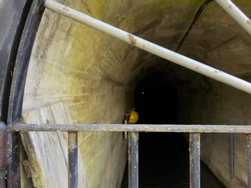 Le nouveau tracé du bisse, à travers le tunnel