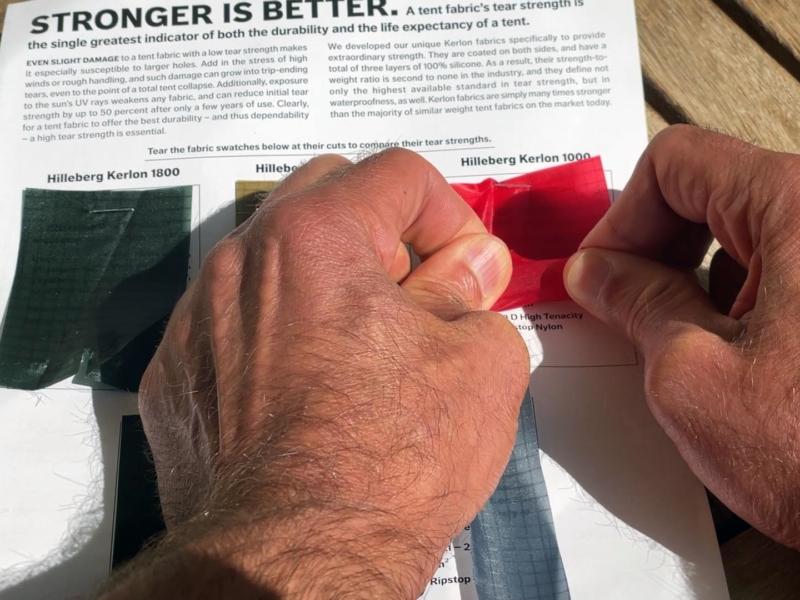 Test de résistance du Kerlon de chez Hilleberg